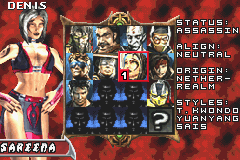 Mortal Kombat - Tournament Edition - Character Profile Sareena - Sareena - User Screenshot